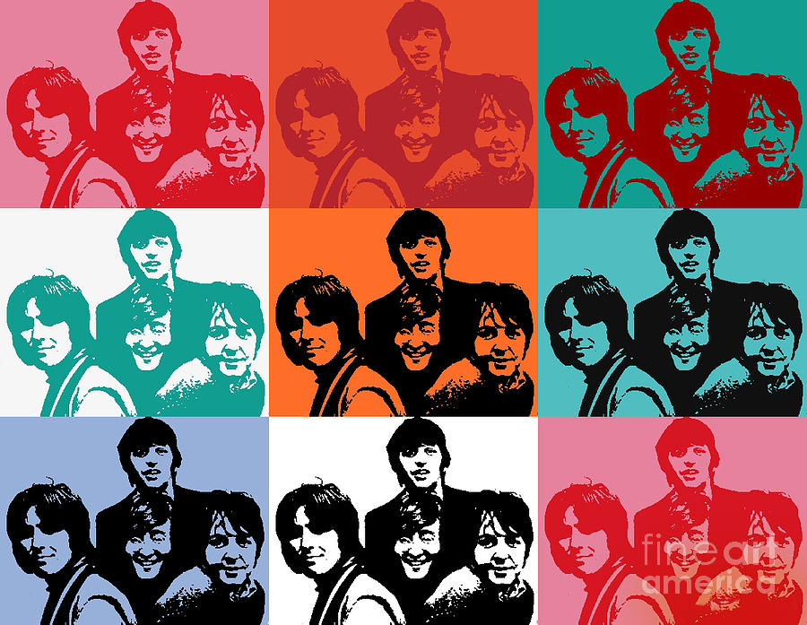 Pop Goes The Beatles Digital Art  - Pop Goes The Beatles Fine Art Print