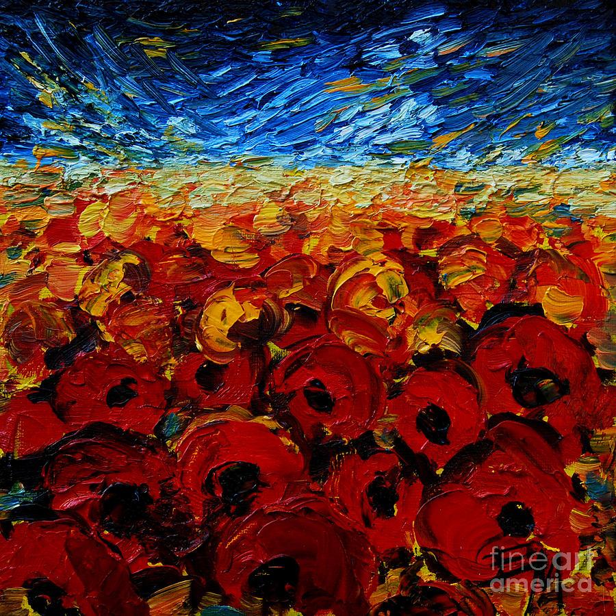 Poppies2 Painting - Poppies 2 by Mona Edulesco