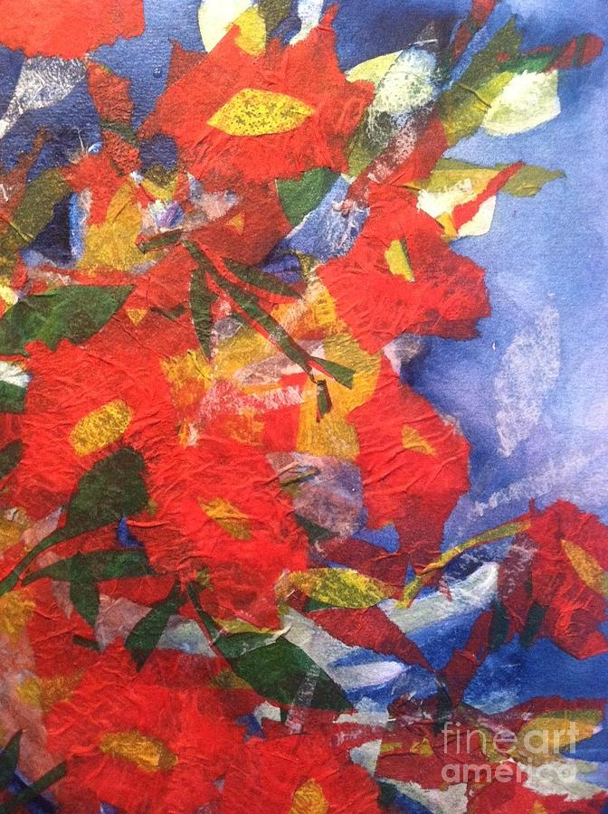 Poppies Gone Wild Painting