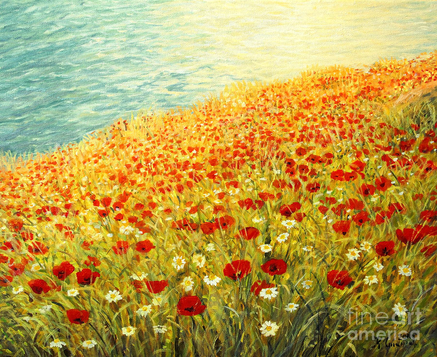 Poppies Of Kaliakra II Painting