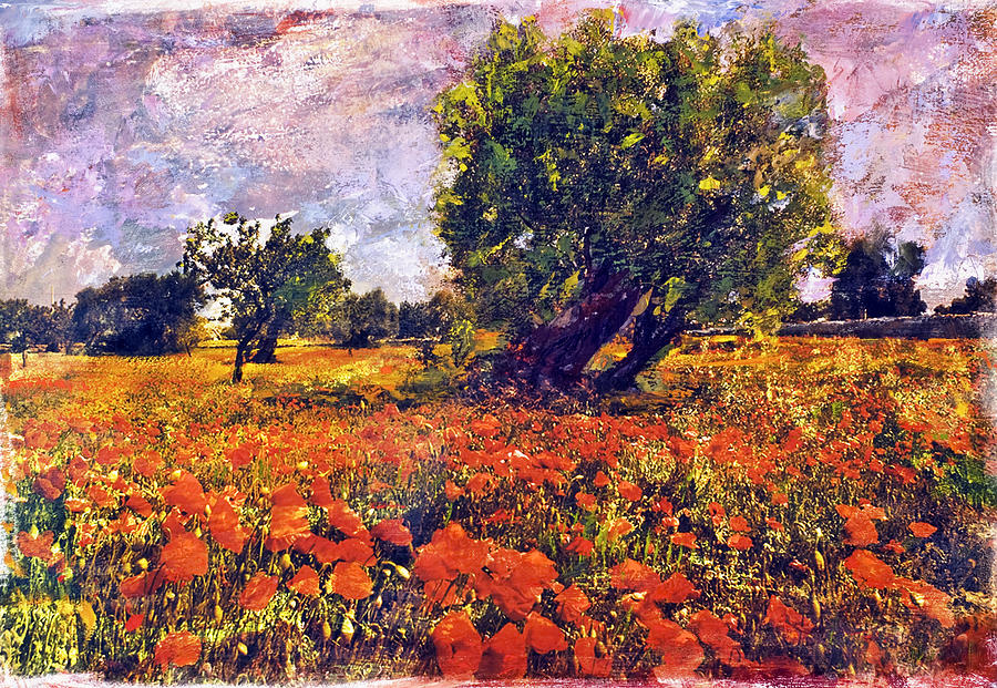 Poppies Of Puglia Painting  - Poppies Of Puglia Fine Art Print