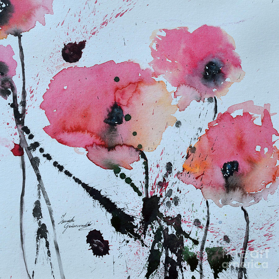 Poppies- Painting Painting  - Poppies- Painting Fine Art Print
