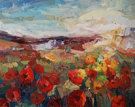 Poppy Fields 2012 Painting
