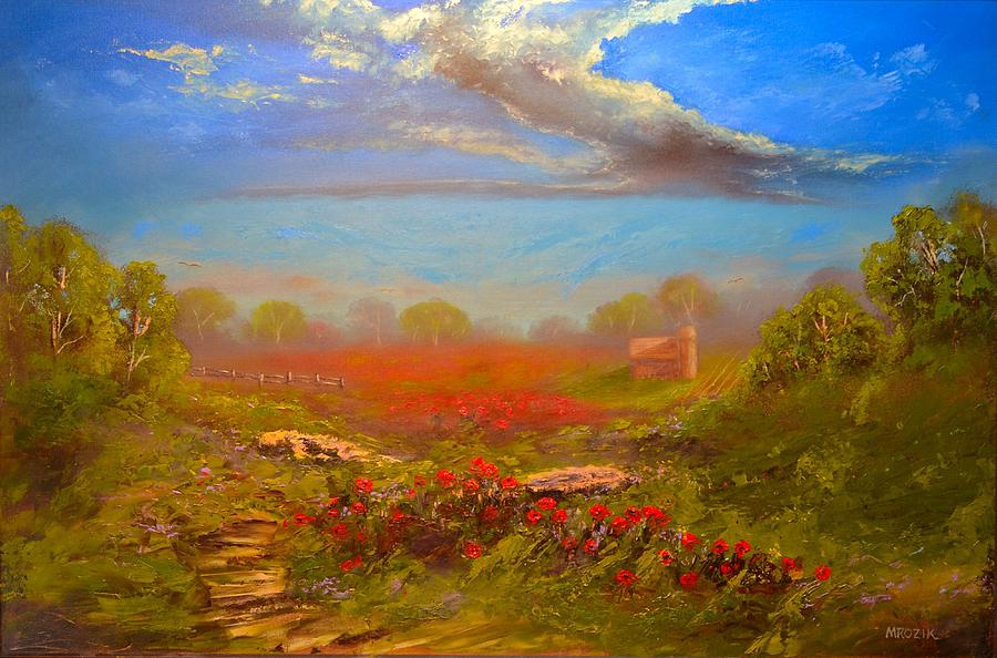 Poppy Morning Painting