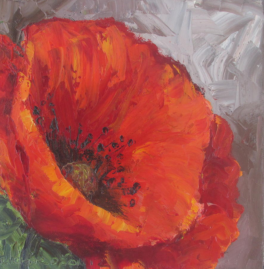 Poppy1 Painting  - Poppy1 Fine Art Print