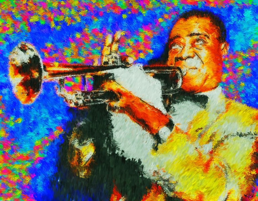 Pops Louis Armstrong Painting