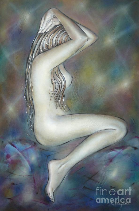 Nude Painting - Porcelain Nude 080810 by Selena Boron