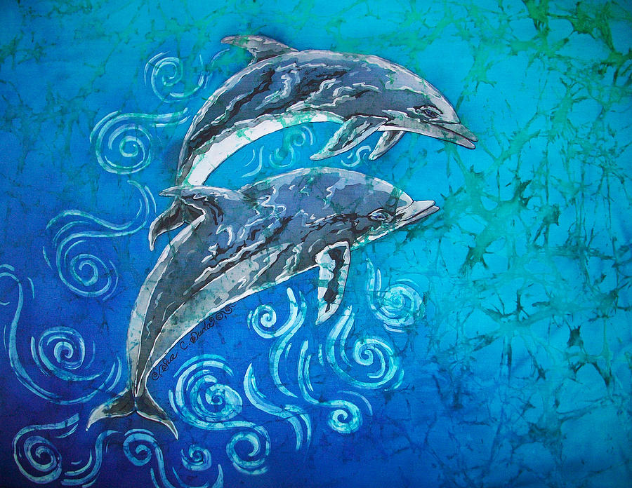 Porpoise Painting - Porpoise Pair by Sue Duda