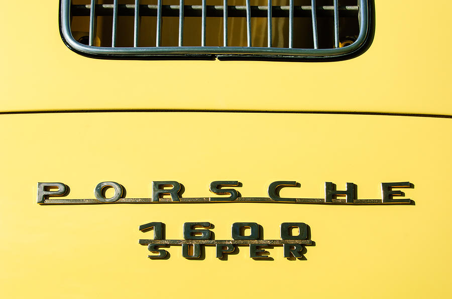 Porsche 1600 Super Rear Emblem Photograph