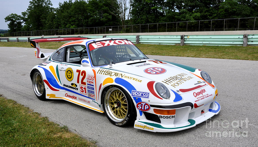 porsche 911 gt2 race car photograph by tad gage
