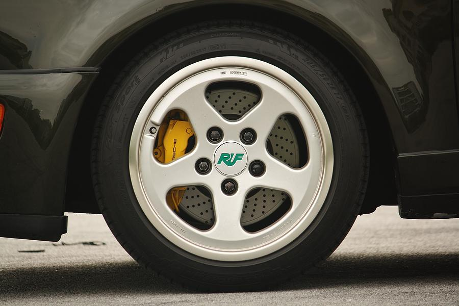 Porsche 911 Ruf Speedline Rim With Turbo Brakes Photograph