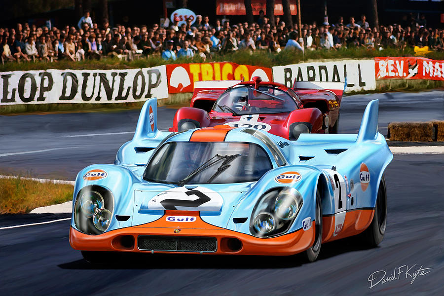 Porsche 917 At Le Mans Digital Art  - Porsche 917 At Le Mans Fine Art Print