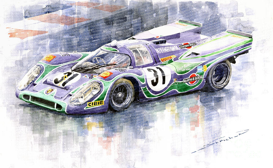 Porsche 917 K Martini Racing 1970 Painting