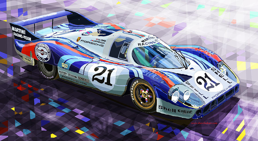 Automotive Digital Art - Porsche 917 Lh Larrousse Elford 24 Le Mans 1971 by Yuriy  Shevchuk