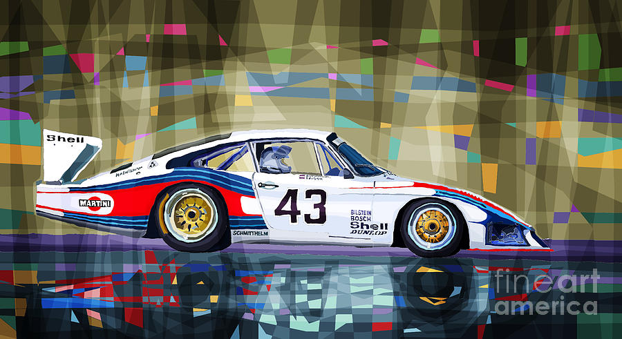 Porsche 935 Coupe Moby Dick Drawing