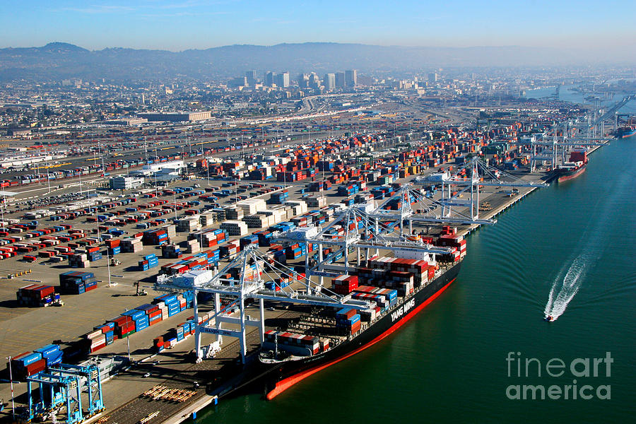 Port Of Oakland California Photograph By Bill Cobb