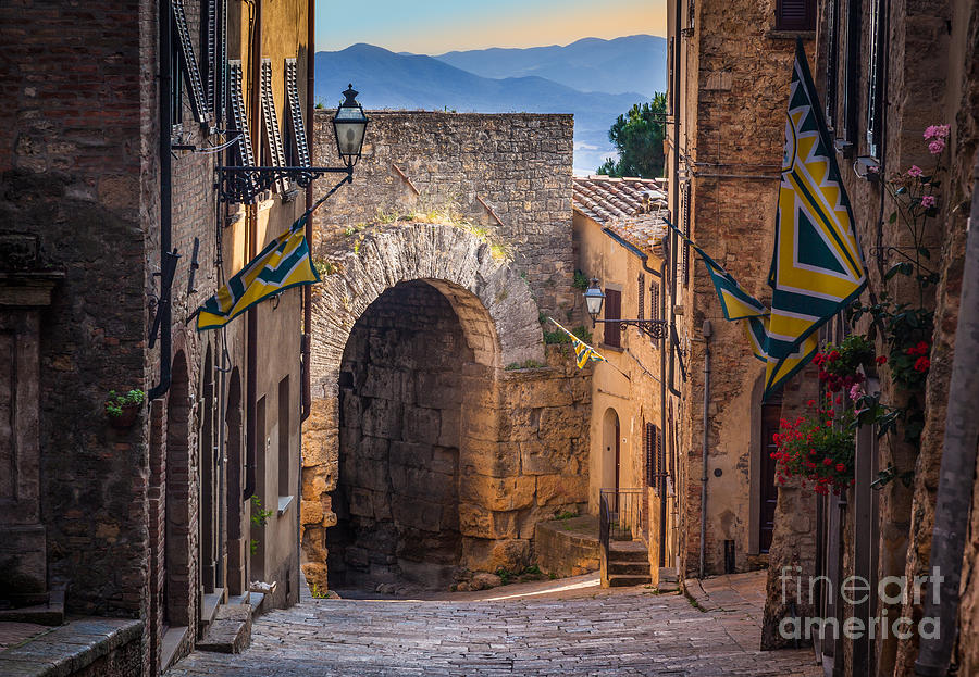 Etruscan Photograph - Porta Dellarco by Inge Johnsson
