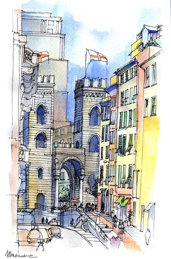 Porta Soprana A Genova Painting