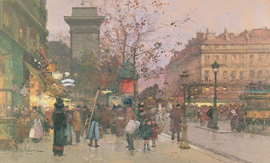 Porte Saint Denis Painting  - Porte Saint Denis Fine Art Print