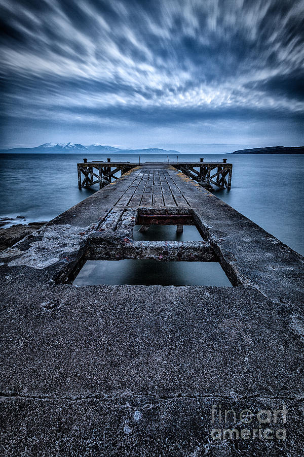 Ayrshire Photograph - Portencross Pier  by John Farnan