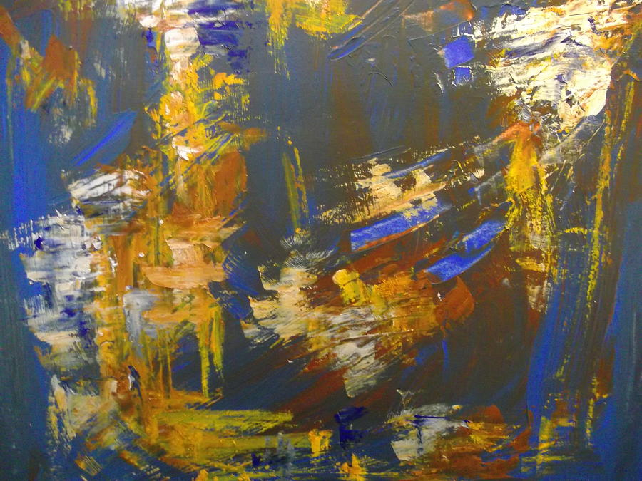 Abstract Painting - Portend by Karen Lillard