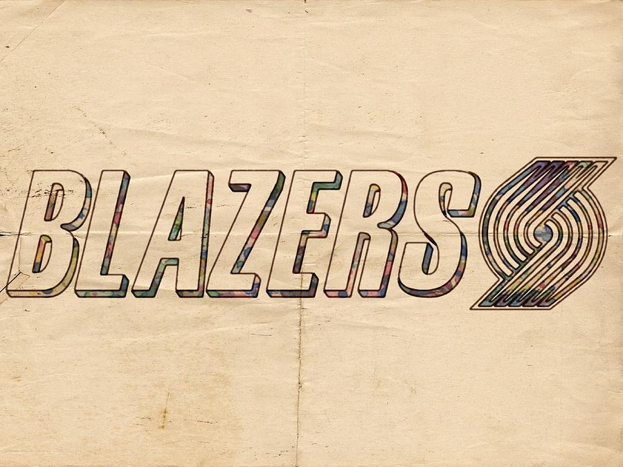 Portland Blazers Logo Poster Painting