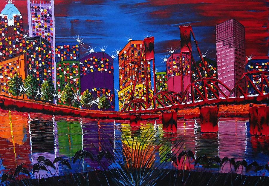 Painting - Portland City Light 37 by Portland Art Creations