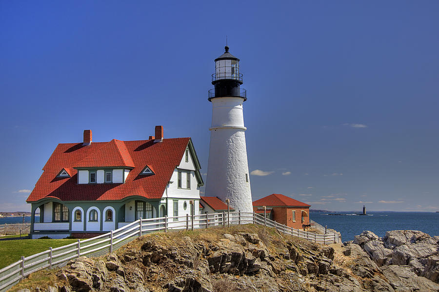 Atlantic Ocean Photograph - Portland Head Light by Joann Vitali