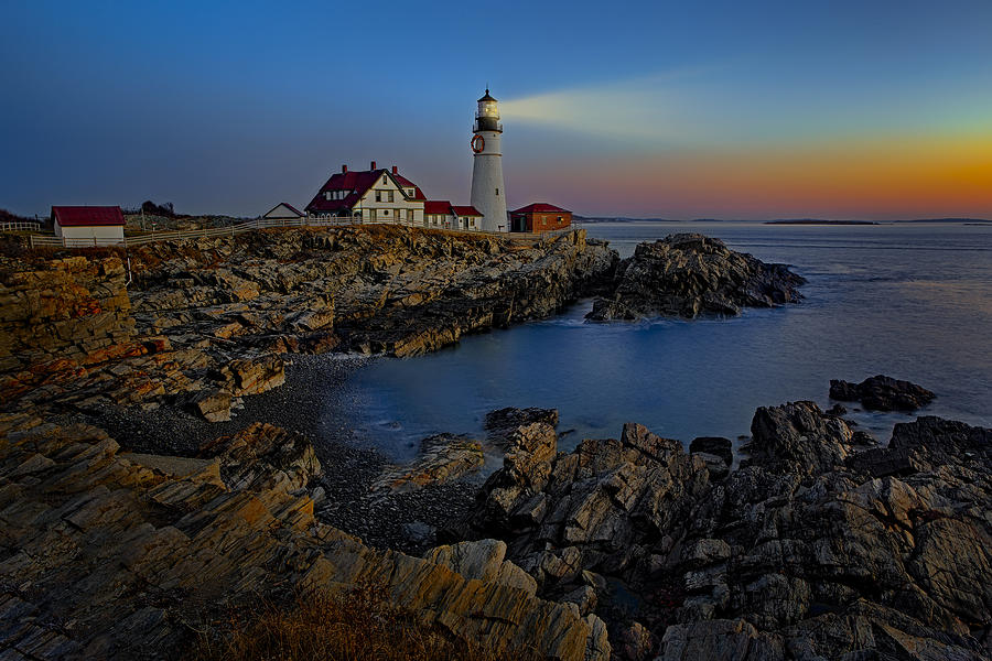 Portland Head Light Sunrise Photograph