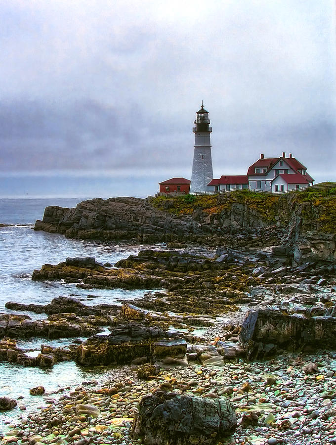 Portland Head Lights Beautiful Coast Photograph  - Portland Head Lights Beautiful Coast Fine Art Print