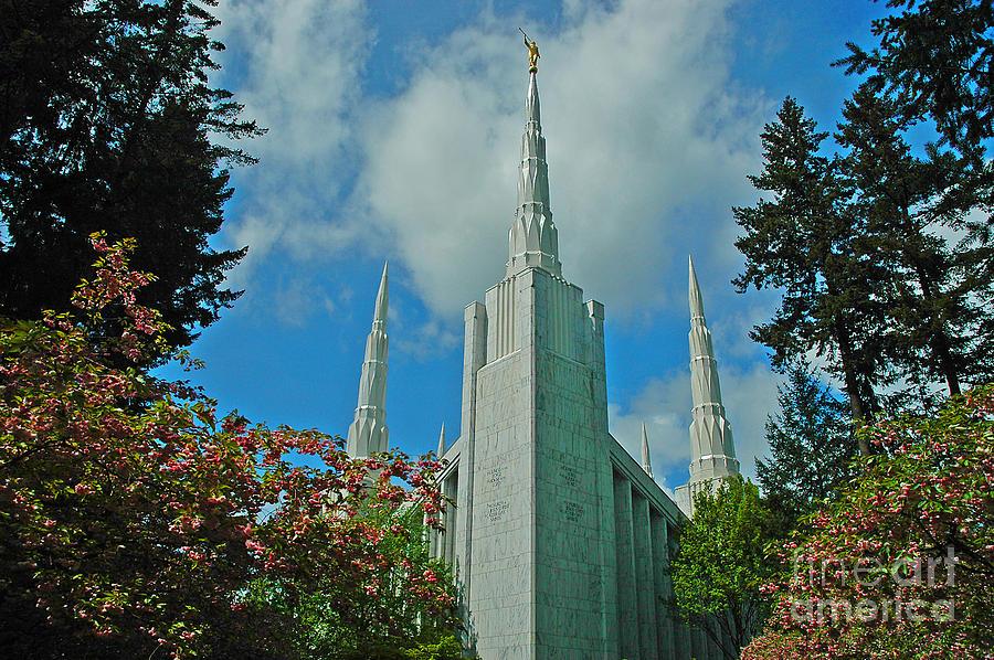 Pacific Photograph - Portland Oregon Lds Temple by Nick  Boren