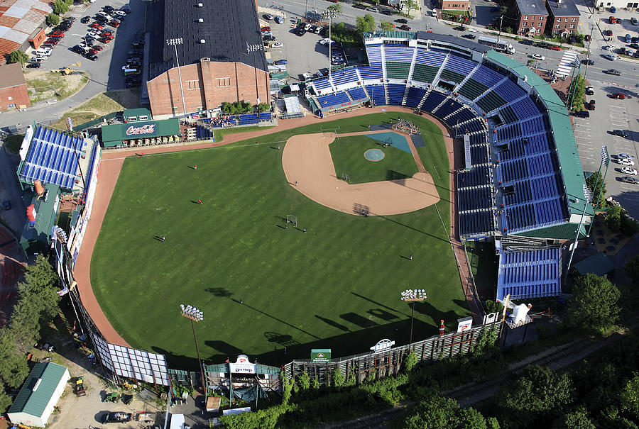 Portland Sea Dogs Hadlock Field Photograph By Dave Cleaveland