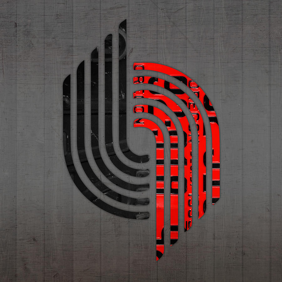 Portland Blazers Radio: Portland Trailblazers Basketball Team Retro Logo Vintage