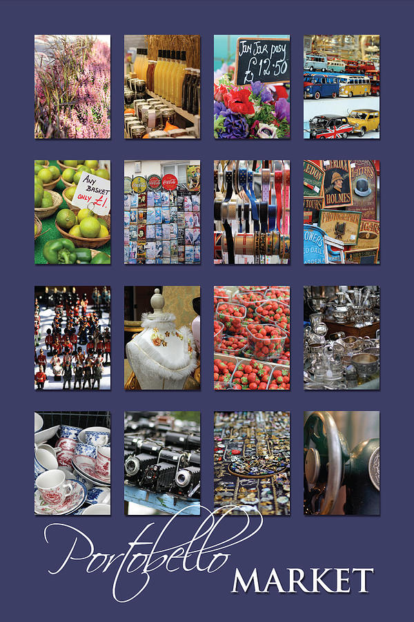 Portobello Market Purple Photograph