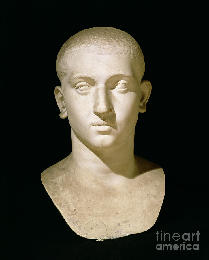 Male Sculpture - Portrait Bust Of Emperor Severus Alexander by Anonymous