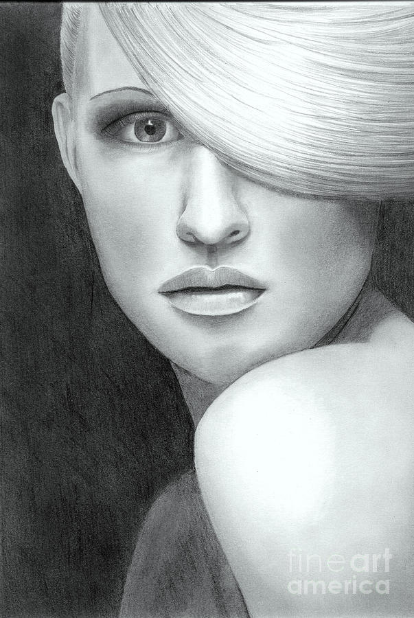 Portrait Drawing  - Portrait Fine Art Print