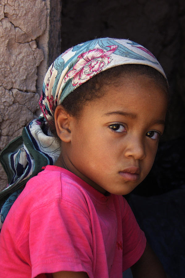 Berber Photograph - Portrait Of A Berber Girl by Ralph A  Ledergerber-Photography
