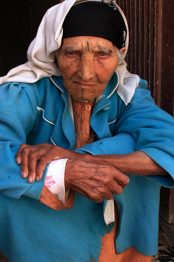 Portrait Of A Berber Woman Photograph  - Portrait Of A Berber Woman Fine Art Print