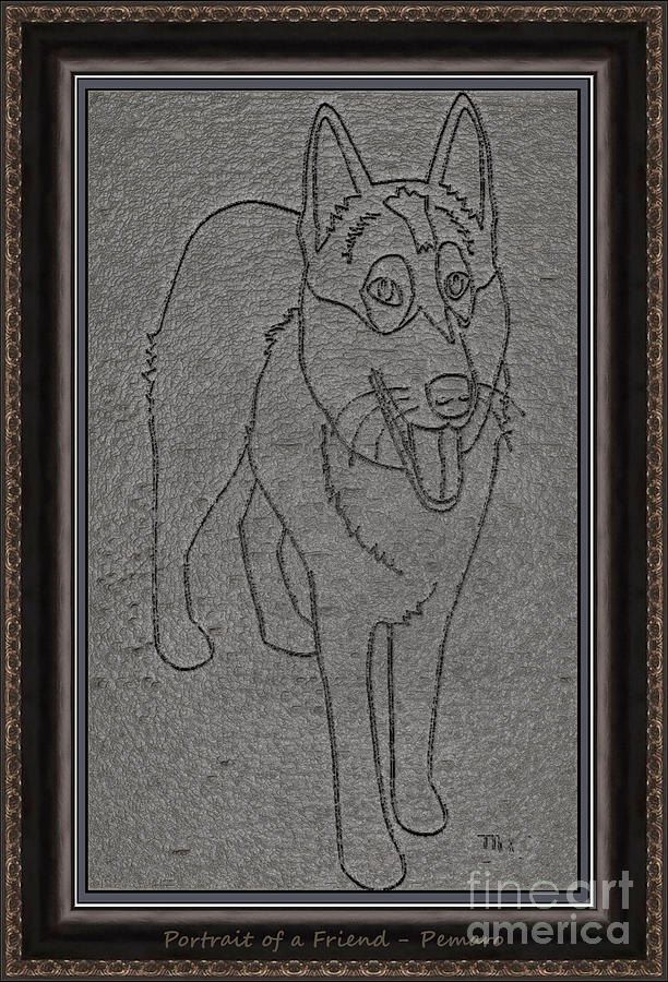 Pets Drawing - Portrait Of A Friend Poaf00002 by Pemaro