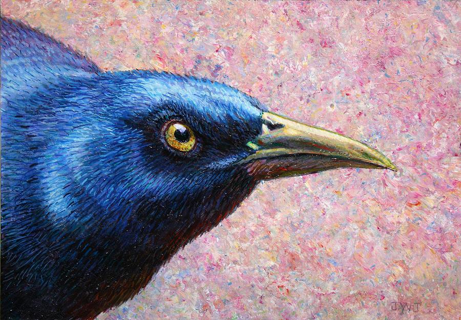 Portrait Of A Grackle Painting