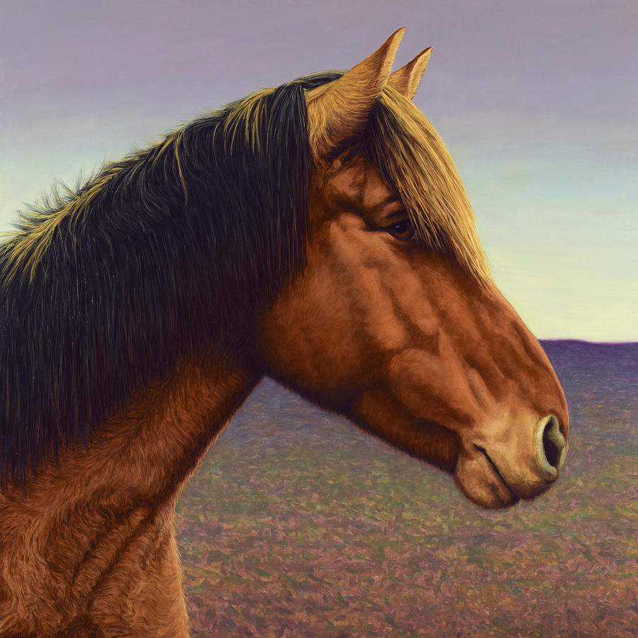 Portrait Of A Horse Painting