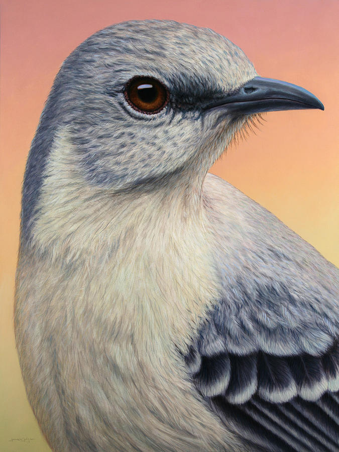 Portrait Of A Mockingbird Painting