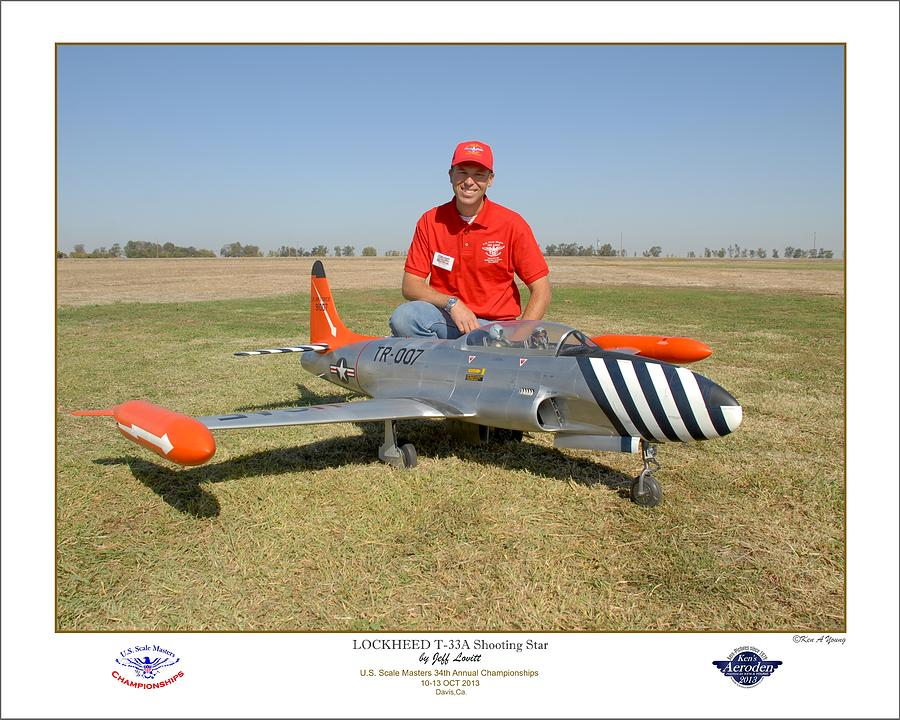 Jet Model Airplane Photograph - Portrait Of A Shooting Star - Jeff Lovitt And His Lockheed T-33 by Ken Young
