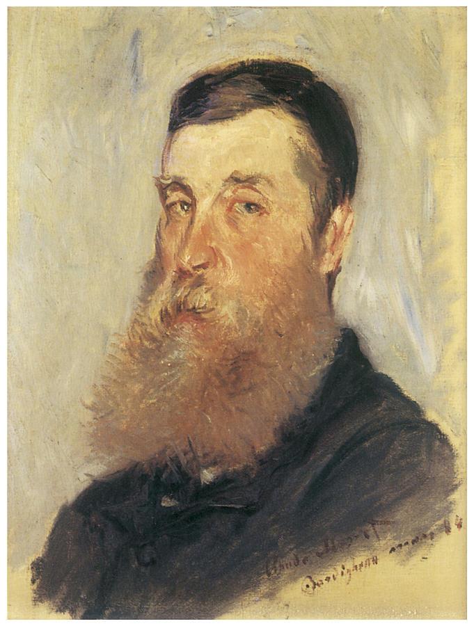 Self Portrait I - Claude Oscar Monet - WikiGallery.org