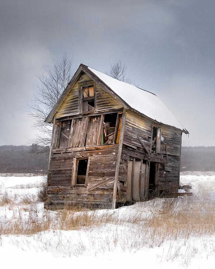 Portrait Of An Old Shack - Agriculural Buildings And Barns Photograph