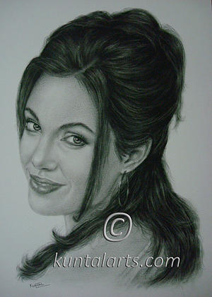 Portrait Of Angelina Jolie Drawing