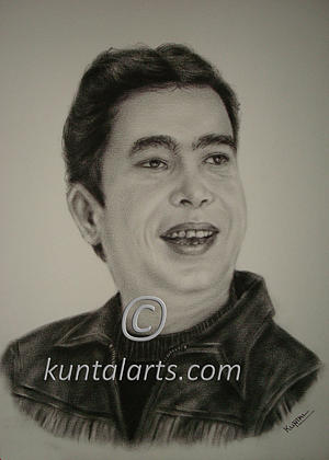 Portrait Of Aziz Bhutto Drawing