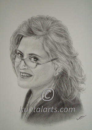 Portrait Of Bina Kak Drawing