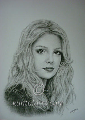 Portrait Of Britney Spears Drawing
