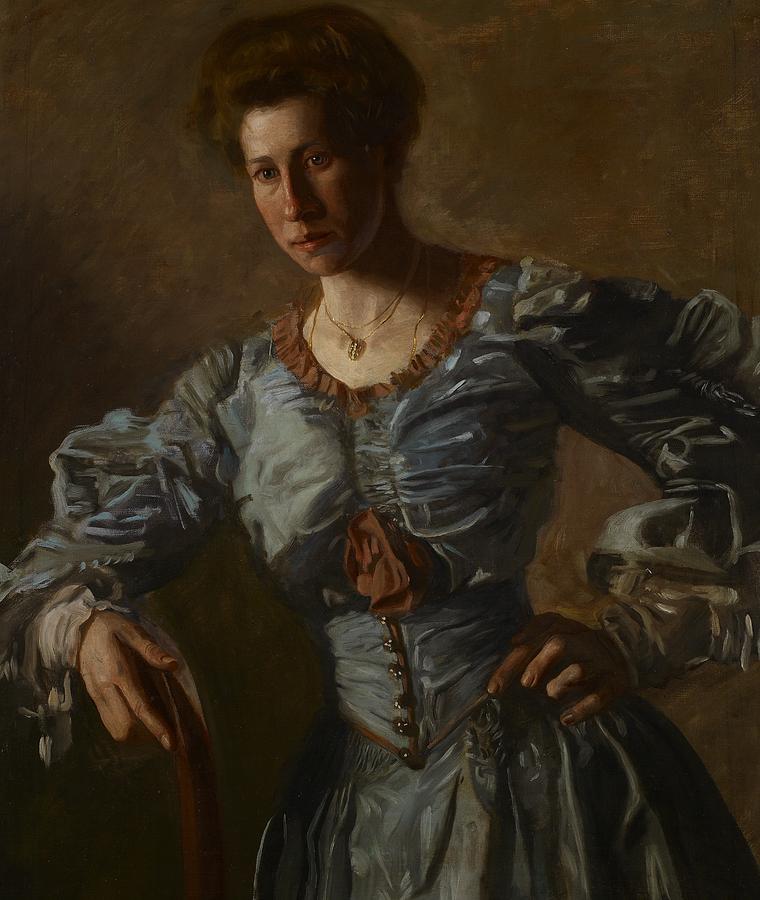 Portrait Of Elizabeth L Burton Painting